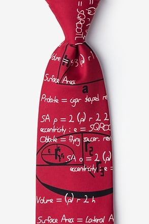 Geometry Red Tie
