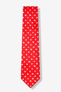 Tossed Hearts Red Skinny Tie Photo (0)