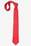 Tossed Hearts Red Skinny Tie Photo (3)