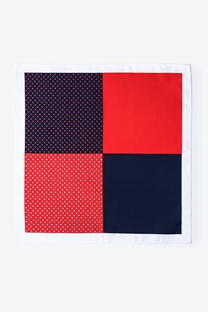 _Miguel Red Pocket Square_