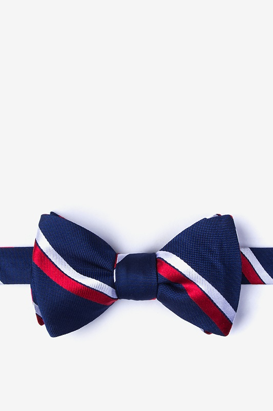 Axel Red Self-Tie Bow Tie Photo (0)