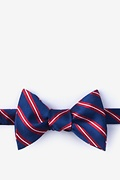 Red Silk Barrow Self-Tie Bow Tie