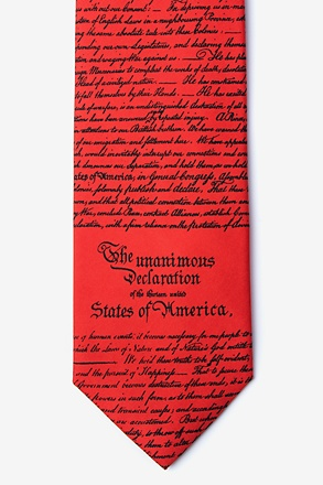 _Declaration of Independence Red Tie_