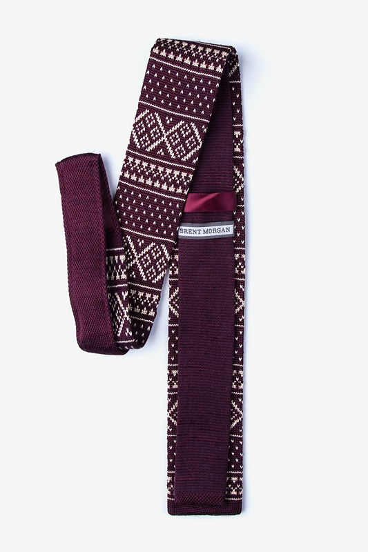 Fair Isle Red Knit Skinny Tie Photo (1)