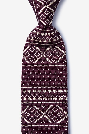 _Fair Isle Red Knit Tie_