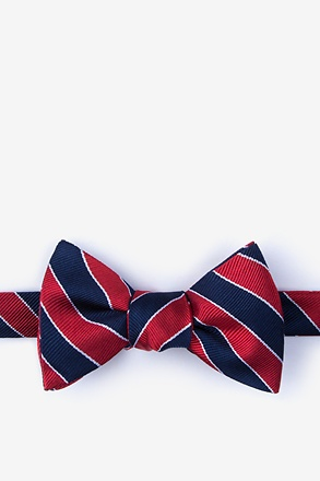 Fane Red Self-Tie Bow Tie