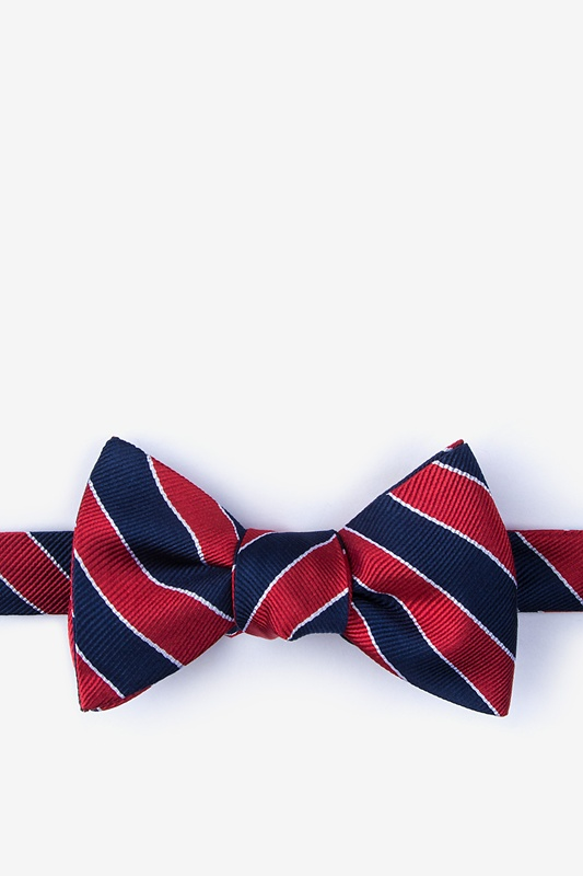 Fane Red Self-Tie Bow Tie Photo (0)