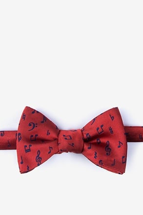 Let's Compare Notes Red Self-Tie Bow Tie