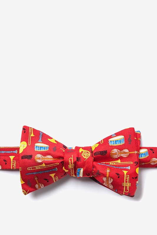 Musical Instruments Red Self-Tie Bow Tie Photo (0)
