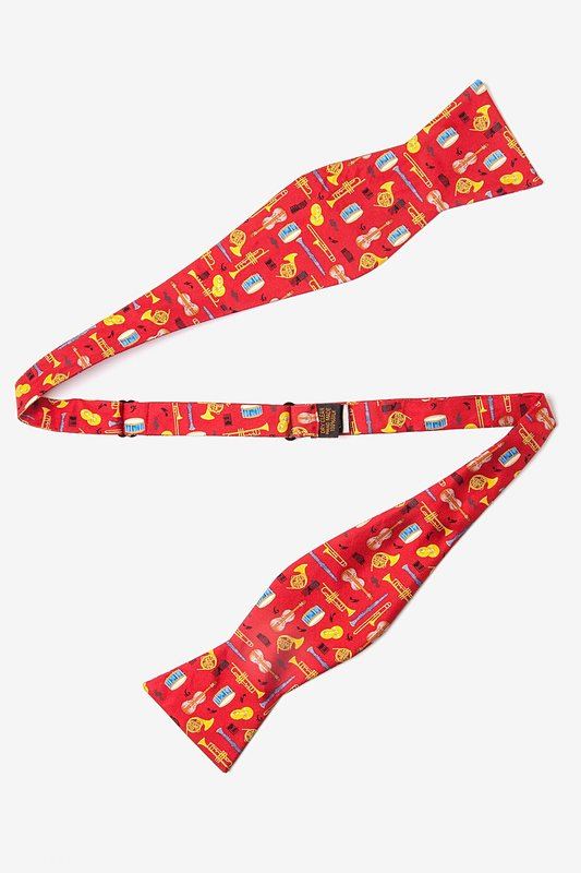 Musical Instruments Red Self-Tie Bow Tie Photo (1)