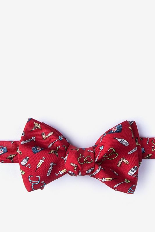 Trust Me, I'm a Doctor Red Self-Tie Bow Tie