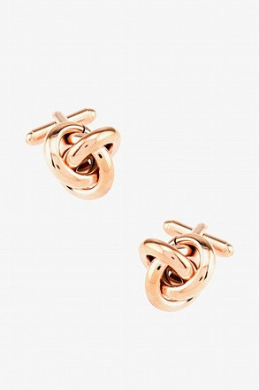 _All Tangled Up Rose Gold Cufflinks_