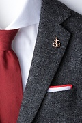 Anchor With Rope Rose Gold Lapel Pin Photo (1)