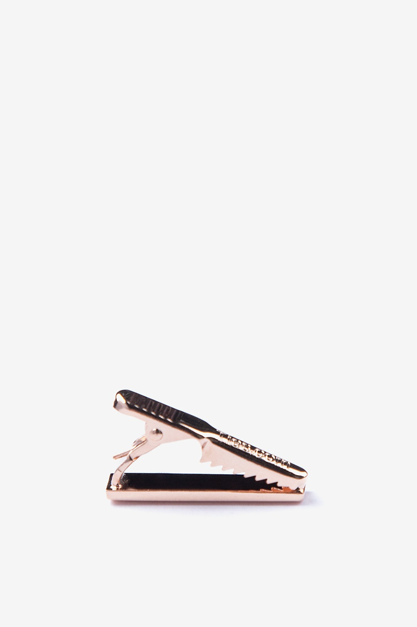 Chrome Curved Rose Gold Tie Bar Photo (1)