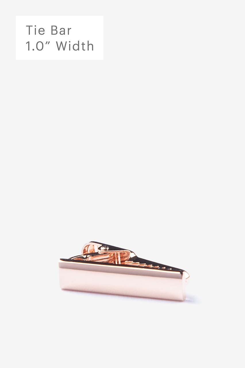 Chrome Curved Rose Gold Tie Bar Photo (0)