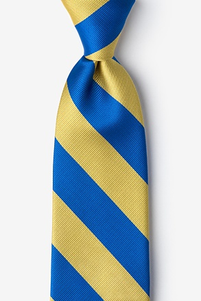 _Royal Blue & Gold Stripe Extra Long Tie_