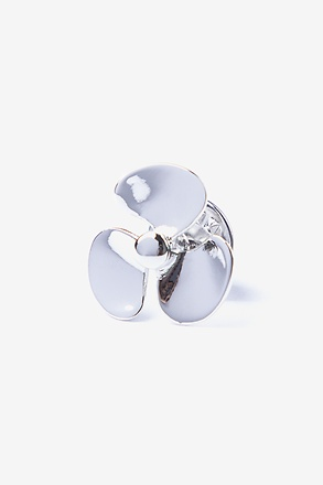 Propeller Silver Lapel Pin