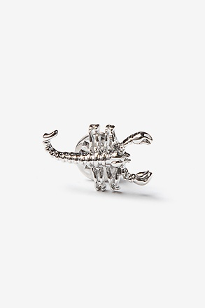 Scorpion Silver Lapel Pin