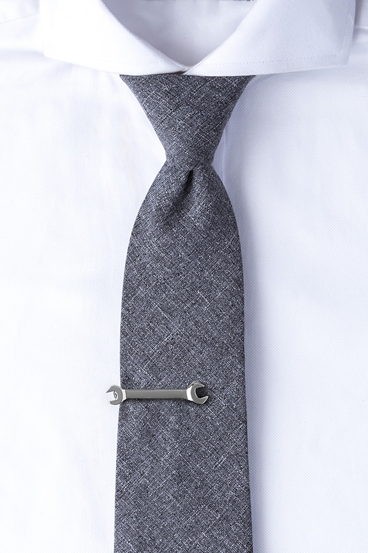 Wrench Silver Tie Bar