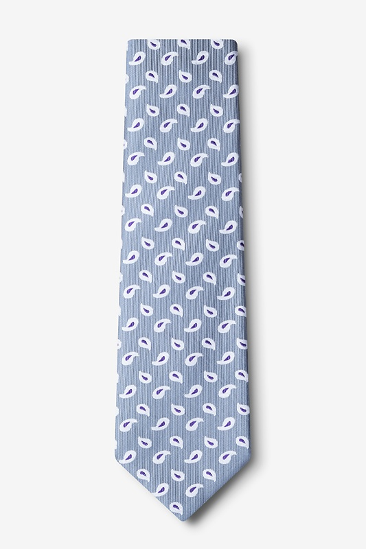 Oland Silver Extra Long Tie Photo (1)