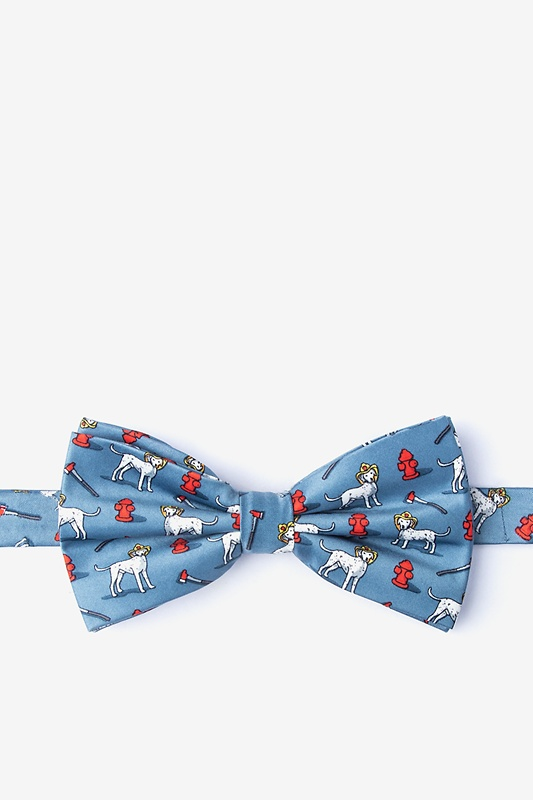 Dalmatian Firefighter Slate Pre-Tied Bow Tie Photo (0)