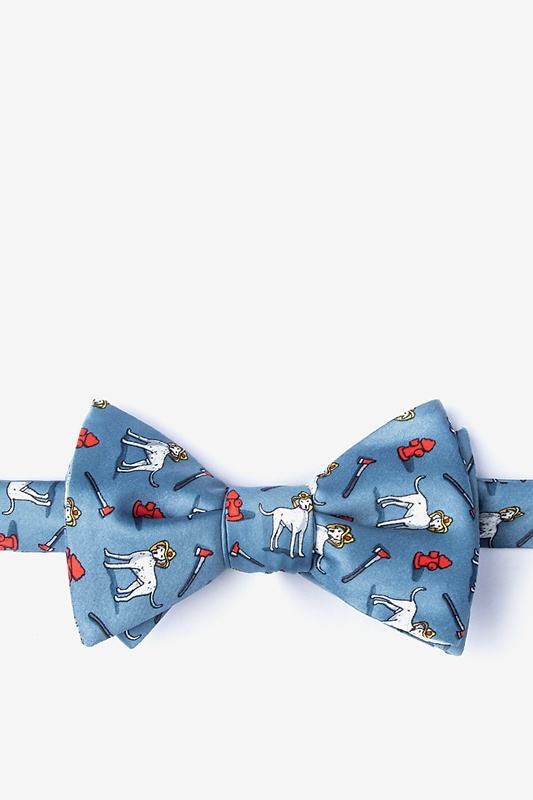 Dalmatian Firefighter Slate Self-Tie Bow Tie Photo (0)