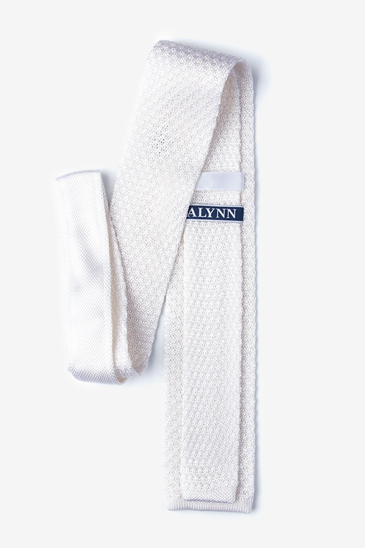 Textured Solid Snow Knit Tie Photo (1)