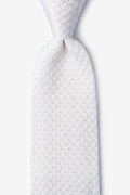 Textured Solid Snow Knit Tie Photo (0)