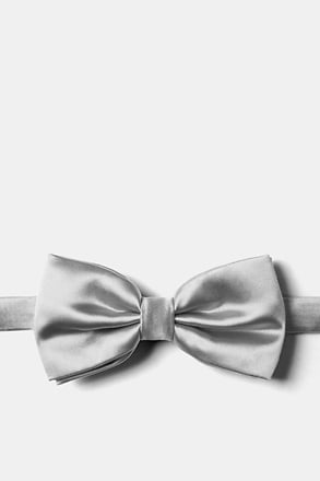 _Sterling Silver Pre-Tied Bow Tie_