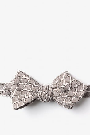 Redmond Tan/taupe Diamond Tip Bow Tie