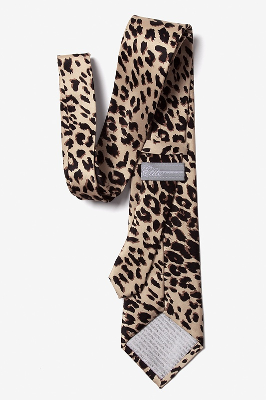 Leopard Print Tan/taupe Tie Photo (1)