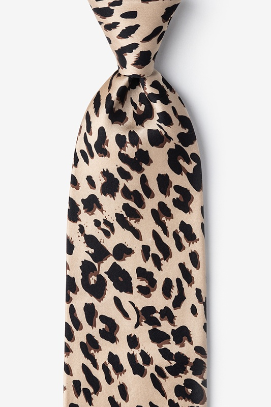 Leopard Print Tan/taupe Tie Photo (0)