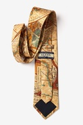 Old World Exploration Tan/taupe Tie Photo (2)