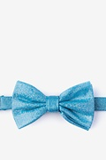 Hurricane Teal Pre-Tied Bow Tie Photo (0)