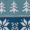 Teal Microfiber Less Ugly Christmas Sweater Extra Long Tie