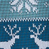 Teal Microfiber Less Ugly Christmas Sweater Skinny Tie
