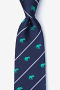 Teal Silk Extra Trunk Space Tie