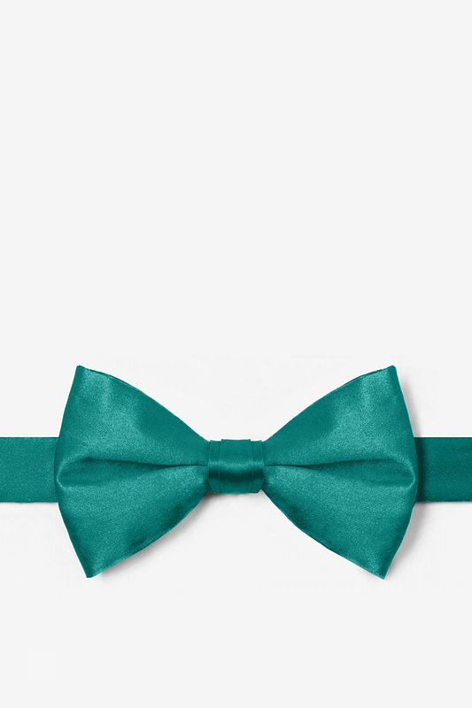 Teal Pre-Tied Bow Tie Photo (0)