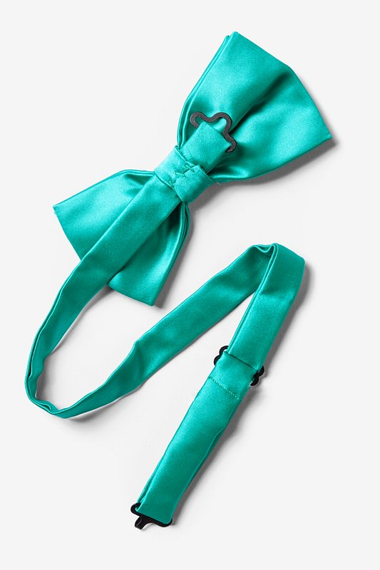 Tropical Turquoise Pre-Tied Bow Tie Photo (1)