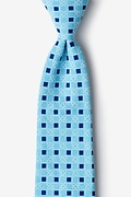 Turquoise Cotton Jamaica Extra Long Tie