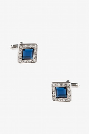 Bejeweled Frame Turquoise Cufflinks