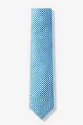 Checked Plaid Turquoise Skinny Tie Photo (0)