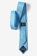Checked Plaid Turquoise Skinny Tie Photo (1)