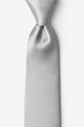"Wedding Silver 2.25"" Skinny Tie"