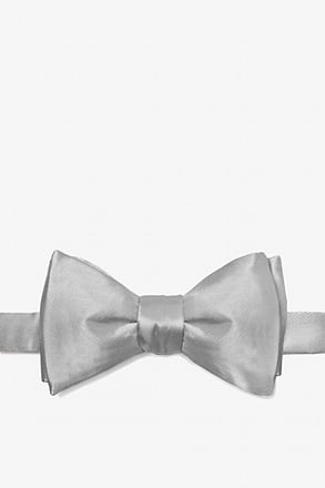 Wedding Silver Self-Tie Bow Tie