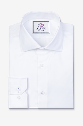 Aiden Cutaway Collar White Slim Fit Dress Shirt