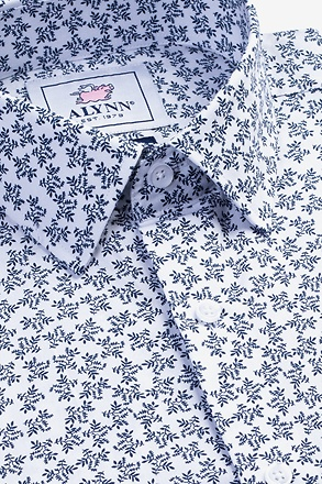 _Brooks Floral White Classic Fit Untuckable Dress Shirt_