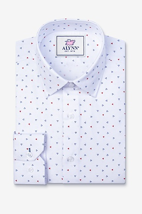 Percy White Slim Fit Untuckable Dress Shirt