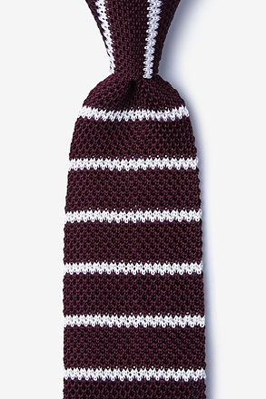 _Briton Stripe Wine Knit Tie_