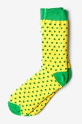 Buena Park Polka Dot Yellow Sock